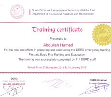 Certificate of experience (DERD)