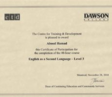 Dawson Third Level English Language