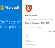 Microsoft Education Training Certificate